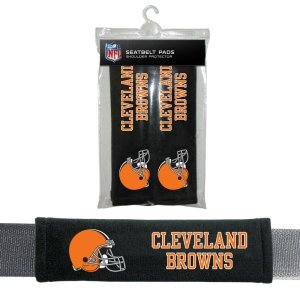 NFL Cleveland Browns Seat Belt Pad (Pack of 2) Nfl Protector