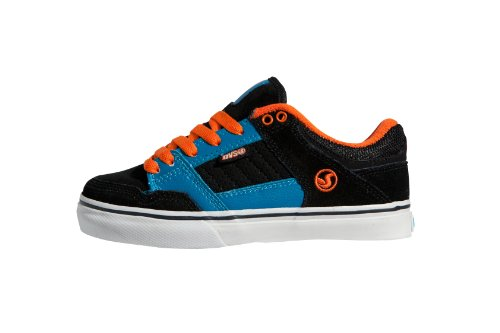 DVS Shoes Kids Ignition CT DVF0000082 Jungen Sportschuhe - Skateboarding Schwarz (BLACK BLUE RED NUBUCK 001)