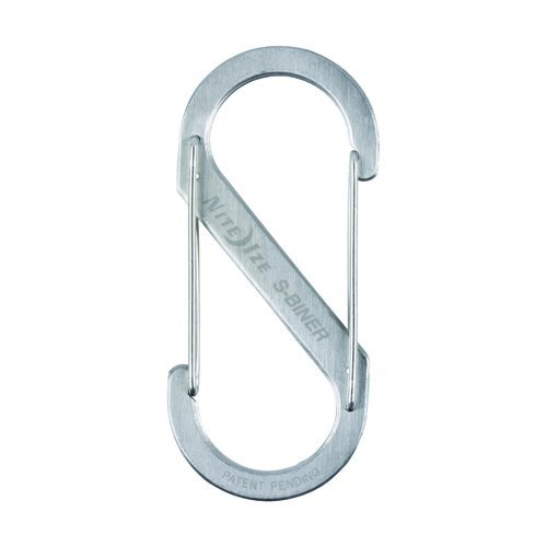 Nite Ize Size-5 S-Biner Dual Spring Gate Carabiner, Stainless