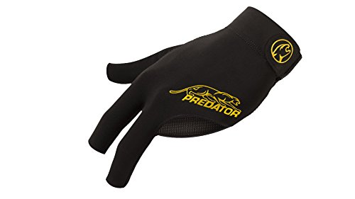 Predator Second Skin Billiard Glove Black and Yellow: Fits Left Bridge Hand (Skin Fit Glove)