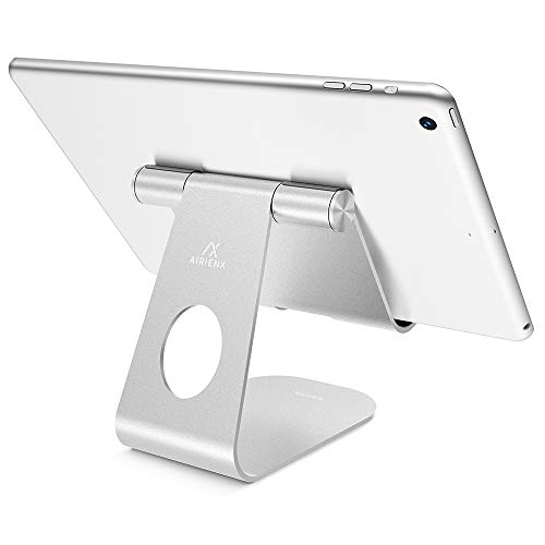 Adjustable Tablet Stand, AirienX Heavy Duty Desktop Stand Holder Dock Compatible with Tablets Such as iPad Pro 9.7, 10.5…