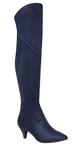 Impo Edeva Stretch Kjole Boot Midnight Blue Faux Suedy Stretch