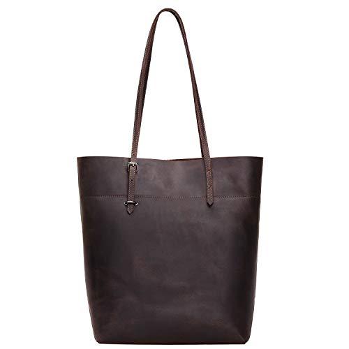 Jack&Chris Women's Leather Work Tote Vintage Handbags Shoulder Bag, 112-5