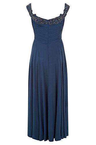 Kleid 31012712 Damen Dynasty Blue Stil Schal blau Curve Petrol mit lange Astrid petrol BYvgqYw