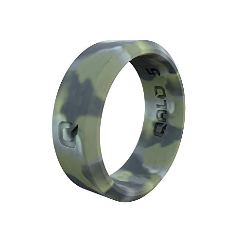 QALO Women's Modern Brush Camo Silicone Ring Size 07