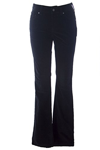 Jeans Velvet Pants (Miraclebody by Miraclesuit Women's Samantha Boot Cut Velvet Jeans Sz 4 Black)