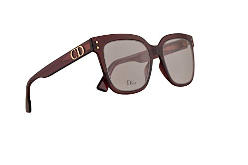 (Christian Dior DiorCD1 Eyeglasses 50-20-145 Burgundy Opal w/Demo Clear Lens LHF CD 1 CD1)