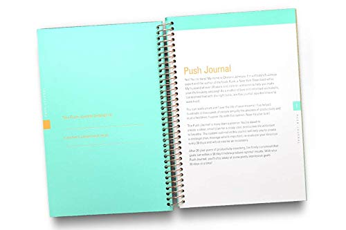 A 90-day, Undated, All-In-One Life Planner/Goal Setter/Notebook/Organizer/Scheduler/Journal Book, 3 Colors/Pack, Each Journal: 160 Pages-Quality Paper, 0.9 Lbs, 7x9 - Fits Into Your Bag by PUSH Journal (Image #3)