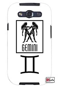 Cool Painting Gemini Sign Zodiac Horoscope Symbol Unique Quality Soft Rubber Case for Samsung Galaxy S4 I9500 - White Case