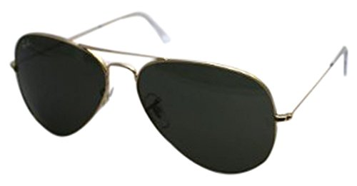 Ray-Ban Aviator Classic,  Green Classic, 58 - Classic Ray Gold Aviator Ban