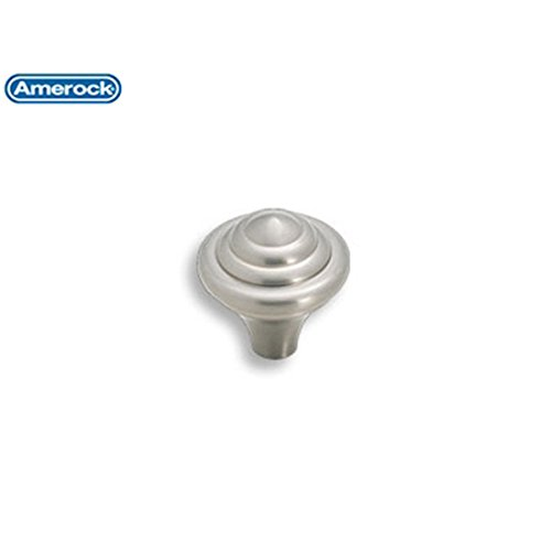 Amerock Abstractions Knob - Amerock BP19257G10 Abstractions 1-1/4in(32mm) DIA Knob - Satin Nickel by Amerock