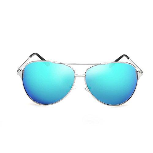 Polarizadas De RPFU Espejo SilverFrameIceBlue De Los Conducen De De Gafas La Sol La De Gafas Sol Silverframeiceblue Las Hombres De Moda El Que Manera wrqIxvtnq1