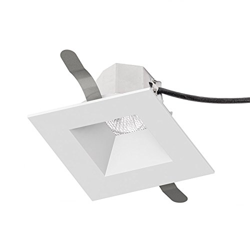 WAC Lighting R3ASDT-N930-WT Aether Square Trim with 90 CRI LED Light Engine Narrow 25 Beam 3000K Soft White