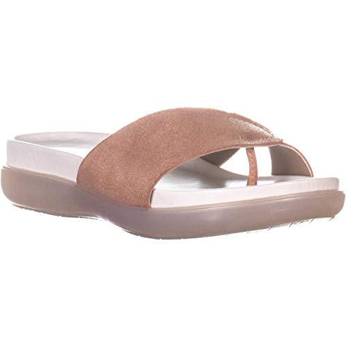 Donald J Pliner Womens Hollie Leather Open Toe Casual Slide, Rose Gold, Size 9.5