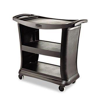 Rubbermaid Commercial Executive Service Cart - Black