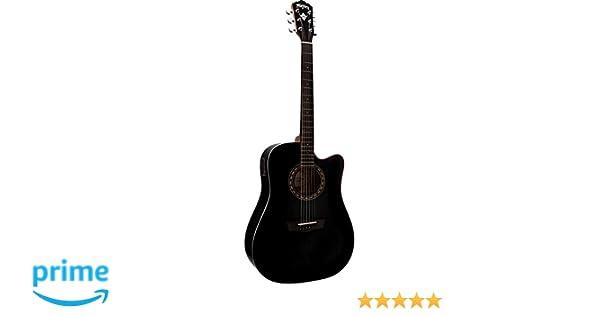 Washburn WD7SCEBM - Wd7s ce bm guitarra electroacustica negra: Amazon.es: Instrumentos musicales