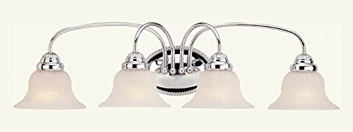 4 Light Polished Chrome Bath Light