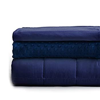 Image of YnM Weighted Blanket with Double Duvets for All Seasons | 80''x 87'' 20lbs, King Size for Couple Use | 3 in 1 Weighted Blanket Set for Hot & Cold Sleepers YnM B082Y5BYT3 Weighted Blankets