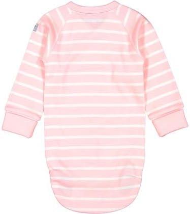 Polarn O Pyret Stripey Cute GOTS WRAP Bodysuit 0-6MOS