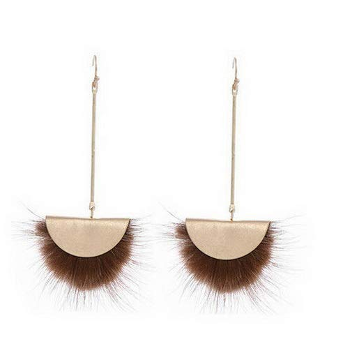 Campton Soft Fur Ball Pompom Earrings Drop Dangle Women Ear Stud Earrings Jewelry Gift | Model ERRNGS - 133 - Emerald Earrings Crislu
