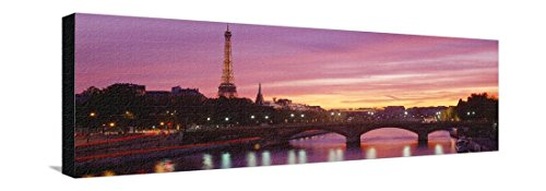 Bridge with the Eiffel Tower in the Background, Pont Alexandre Iii, Seine River, Paris, Ile-De-F... Stretched Canvas Print by Panoramic Images - 36 x 12 in - Alexandre Iii Bridge