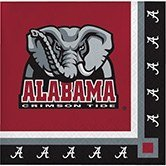 Club Pack of 240 NCAA Univ of Alabama Premium 2-Ply Disposable Party Beverage Napkins -