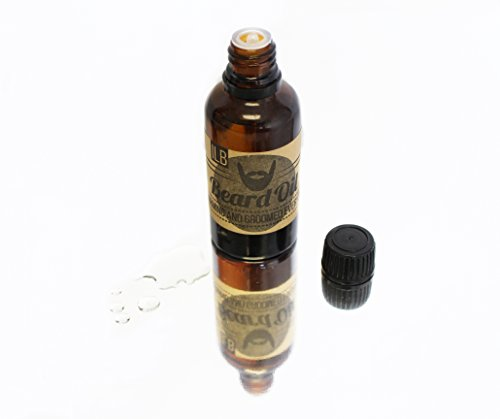 Organic Beard Oil - Leave-In Conditioner - 100% Pure & Natural Unscented - Mustache LIquid Wax Balm - Helps Groom Beards Mustaches - Face Moisturizer Acne Treatment & Hair - Beards Of Types Mustaches And