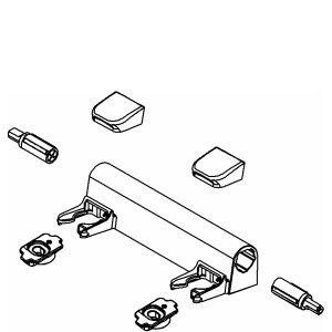 Kohler 1150464 EB Hinge Kit for Elongated Toilet Seat, Black ...