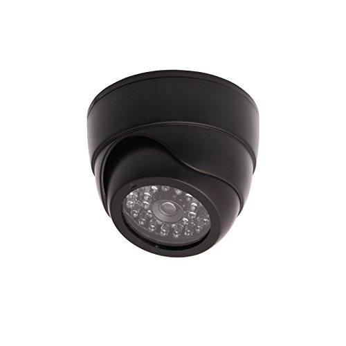 plica Criminal Surveillance Imitation Dome Camera With LED, Black ()