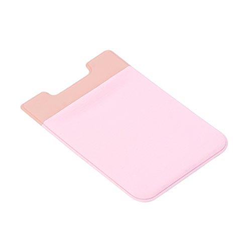 Cartes De Pour Autocollant Portable Carte Crédit Poche Arrière Portefeuille Rose Enyu Téléphone xXCwZw