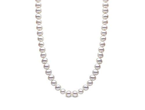 Kimura Pearls Femme  18carats (750/1000)  Or blanc|#Gold Rond  Perle d'eau douce chinoise Blanc Perle FINENECKLACEBRACELETANKLET