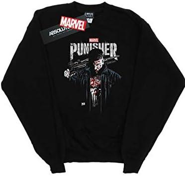Marvel Herren The Punisher TV Series Frank Castle Sweatshirt Schwarz XXXXX-Large