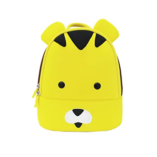 (Nosterappou Cute Animal Diving Material Cartoon Children's Bag Space Cotton, Student Cute Breathable Backpack, Small Cow Tiger Bag, Breathable, Dirt-Resistant, Light (Pattern : B))