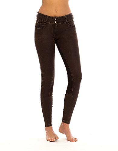 Goode Rider Ladies Equestrian Jean Full-Seat Breech Faux Leather Size 28R ()