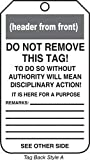 Accuform MDT217CTP PF-Cardstock SAFETY Tag, Legend ''DANGER Do Not Use'', 5.75'' Length x 3.25'' Width x 0.010'' Thickness, Red/Black on White (Pack of 25)