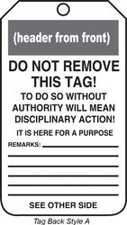 Accuform MDT819PTP RP-Plastic Safety Tag, Legend''Notice Temporarily Out of Use'', 5.75'' Length x 3.25'' Width x 0.015'' Thickness, Blue/Black on White (Pack of 25) by Accuform Signs