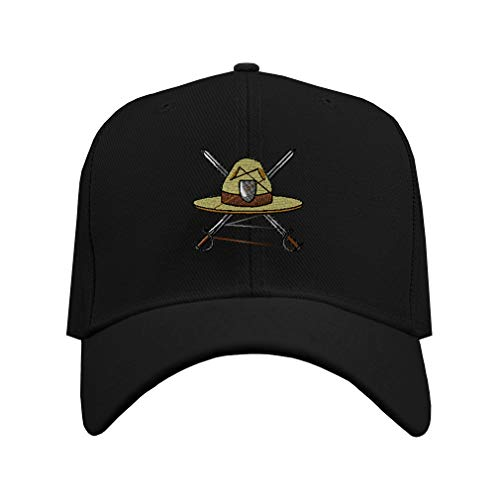 Speedy Pros Baseball Hat Military Drill Instructor Hat Embroidery Veteran Acrylic Structured Cap Hook & Loop - Black, Design Only
