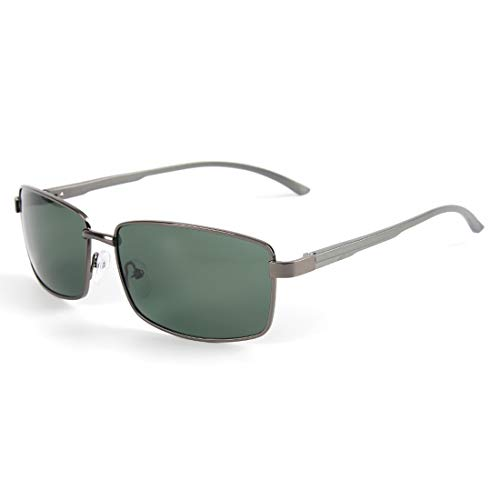 Frame Sol Protection Sunglasses UV Gold Sakuldes Color para Aviator polarizadas de Green Hombres Lens Gafas Gun Green Frame 400 Lens 8IIEYTq