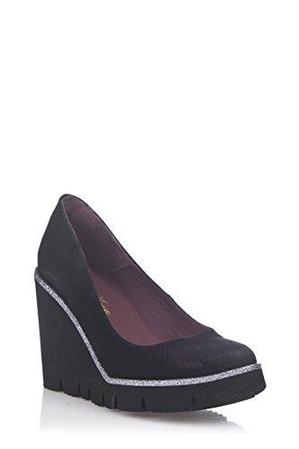 Laura Moretti Damen Wedge Shoes Keil Marineblau