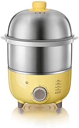 電気卵調理器、自動シャットオフ、最大7個の卵、ソフト、ミディアム、ハードゆで卵用の計量カップ付きの耐久性のあるステンレススチールラックトレイバスケット