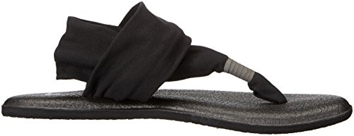 Sling Schwarz Tongs Yoga Black Sanuk 2 Femme C658xp