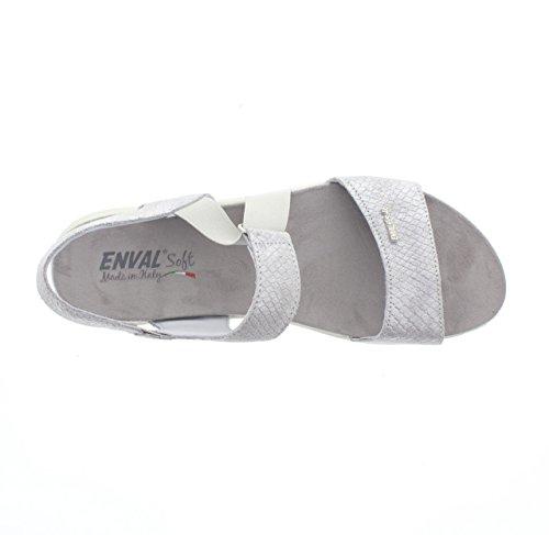 DONNA ENVAL Art79644 SOFT ARGENTO Sandalo zeppa 8qxU5gwU0
