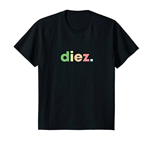 Kids Diez 10th Birthday Shirt for Boys or Girls Feliz Cumpleanos