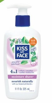 Kiss My Face Essential Oils Body Lotion - Kiss My Face 4in1 Moisture Shave, Peaceful Patchouli 11 Fl Oz(1 Pack)