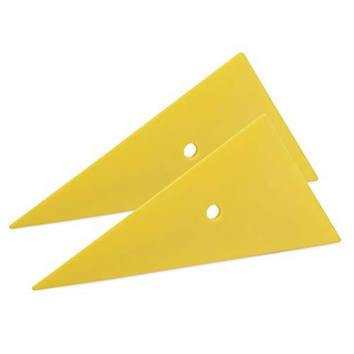 Ehdis Professional Window Tint Tool Triangle Film Scraper Car Vinyl Applicator Tools Yellow Go Corner Squeegee - 2PCS
