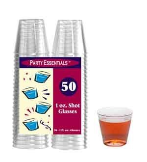 Shot Glasses 1 Oz - Clear 50 Ct [4 Retail Unit(s) Pack] - N15021 by Party Essentials by Party Essentials