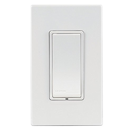 Leviton DZS15-1BZ Decora Z-Wave Controls 15-Amp Scene Capable Switch, White/Ivory/Light Almond