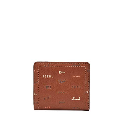 Fossil Women's Logan Small Brown Leather Bifold