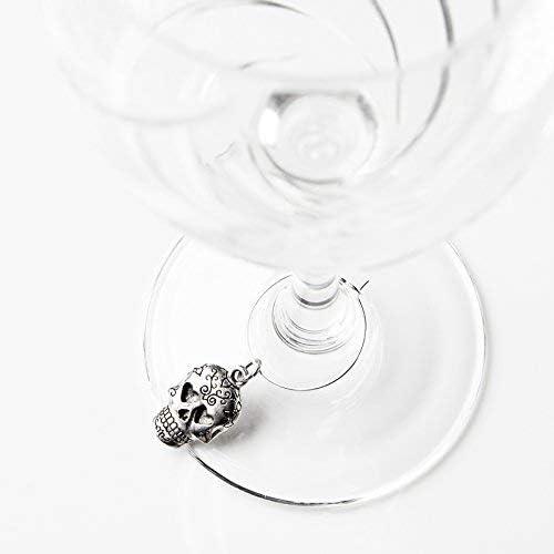 Skull Wine Charm