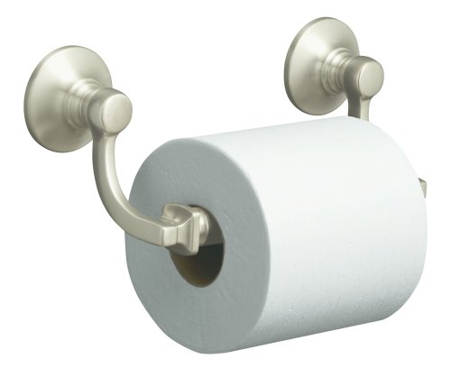 - KOHLER K-11415-BN Bancroft Toilet Tissue Holder, Vibrant Brushed Nickel